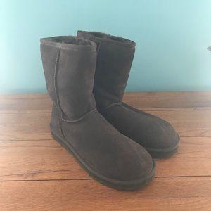 UGG Australia Chocolate Brown Short Boots
